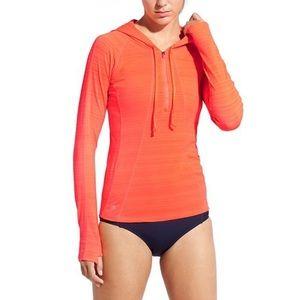 Athleta Pacifica UPF Rashguard Hoodie Size S